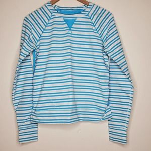 Lululemon Blue Striped Long Sleeve Top, sz 8